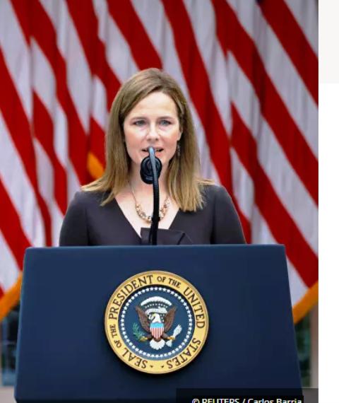 Trump nomina oficialmente a Barrett para sustituir a Ginsburg en la Corte Suprema